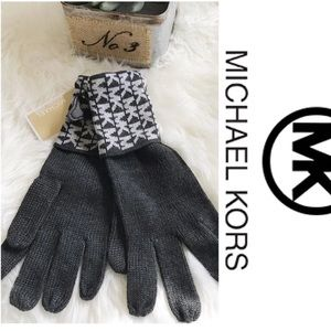 MICHAEL KORS Glove MK logo Gray